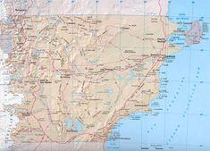 Provincia de Chubut Mapa, Argentina