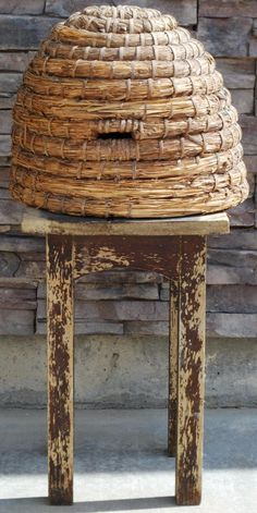 Antique Very Early Bee Skep Basket Hive Primitive by redroosterbab, $289.99 I want one!
