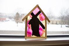 "40 Days of Crafts: ""Heavy Cross to Bear"" Sun Catcher Ornament 