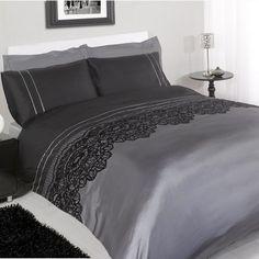 Chantilly Black Embellished Bedding