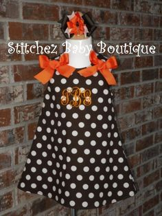 Custom Girls Fall Halloween Thanksgiving Dress by stitchinmamma, $37.00