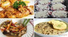 A gomba igazán hálás konyhai alapanyag: nemcsak önmagában finom (pl. rántva), hanem számos egyszerű és összetettebb étel elengedhetetlen hozzávalója. A következőben 15 jobbnál-jobb pompás, gomba felhasználásával készült ételt gyűjtöttünk össze. Remélem, mindenki megtalálja a maga kedvencét! My Recipes, Mashed Potatoes, Chicken, Meat, Ethnic Recipes, Food, Tips, Whipped Potatoes, Smash Potatoes