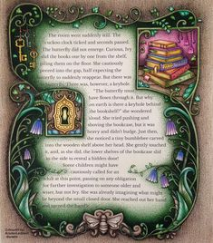 """490 Likes, 20 Comments - Kristen Lambert-Bedelis (@kristenlambertbedelis) on Instagram: """"2nd page of 'Through the Door into the World of Enchantia' for the Collaboration Colouring Project…"""""""