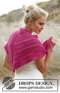 Ponchos & Shawls - Free patterns by DROPS Design