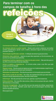 Esquisitices na hora de comer? Aqui ficam umas dicas para ajudar os pais.