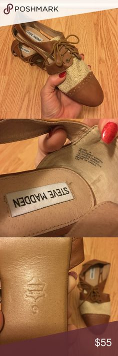 Steve Madden Cut Out Oxfords Never worn, they've been in storage since I moved so they had a bunch of old clothes on top of them. Steve Madden Shoes Flats & Loafers