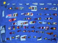 Claude Fourel, Untitled (Fish), 2006, acrylic, ink on canvas from Gateway Arts