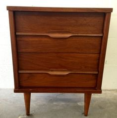Tampa: Mid Century Modern Nightstand with Sculpted Pulls $70 - http://furnishlyst.com/listings/76930