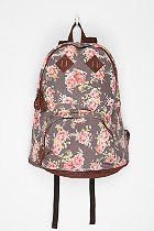 Carrot Floral Patch Backpack  #UrbanOutfitters.....want this for school!