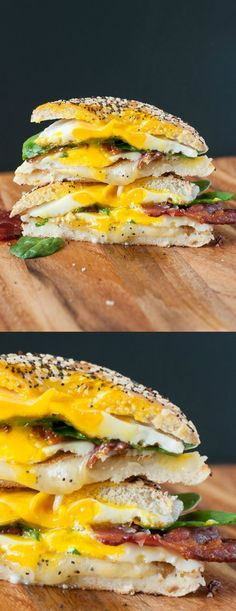 Everything Bagel Grilled Cheese Breakfast Sandwich - Breakfast just got really, really, ridiculously AWESOME!