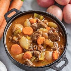 This Old Fashioned Beef Stew is pure comfort in a bowl with tender beef, hearty vegetables, and all the right herbs and spices—it's the best! Source by myrtlehillier Crockpot Recipes, Soup Recipes, Cooking Recipes, Recipies, Vegan Recipes, Ratatouille, Old Fashioned Beef Stew, Beef Stew Meat, Pork Stew
