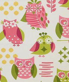 Pindler & Pindler Hoot Rosepetal | onlinefabricstore.net