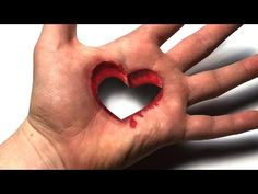 Drawing Heart Trick Art on Hand - Dirty Mind Trick Surprise Drawing Clique na imagem para Assistir ao video Easy 3d Drawing, Realistic Eye Drawing, 3d Art Drawing, Easy Drawings For Kids, Drawings On Lined Paper, 3d Hand Drawings, Cool Drawings, 3d Pencil Art, Pencil Art Drawings