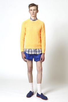 Carven summer 2013  Sweater in neon orange and pink knit