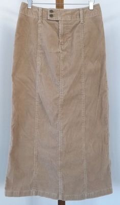 dac05e67f8 Eddie Bauer Corduroy Skirt Size 4 Tan Light Rust Straight Long #EddieBauer  #StraightPencil Women's