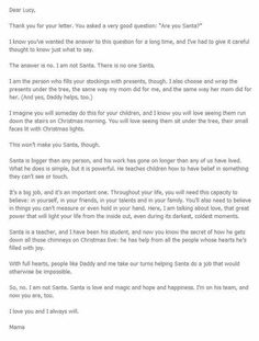 Heartwarming Letters To Explain Santa To Your Kids  Letter