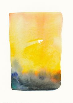 october landscape golden sun       original watercolor painting Owl Paintings, Watercolor Paintings, Golden Sun, Water Colors, Watercolor Landscape, October, Artsy, Journal, The Originals