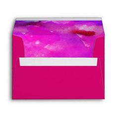 I'M FUSCHIA WATERCOLOR Bat Mitzvah Envelope - return address gifts label labels cards diy cyo