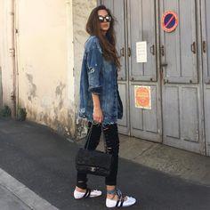 Estelle Pigault wears Miu Miu ballet flats Ballet Flats Outfit, Miu Miu Ballet Flats, Fashion 2017, Boho Fashion, Fashion Outfits, Fall Outfits, Summer Outfits, Casual Outfits, Ballerine Miu Miu