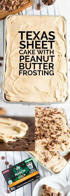 Texas Sheet Cake with Peanut Butter Frosting via @spaceshipslb