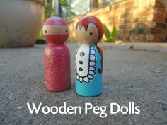 Wooden Peg Painted Dolls