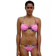 Blushing Babe/Aqua Orchid Bandeau and Bottom - Ao de clo | Swimwear