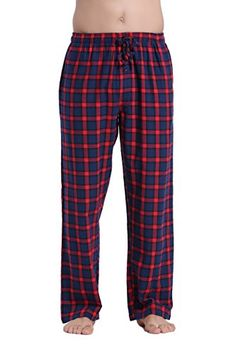 CYZ Mens 100% Cotton Super Soft Flannel Plaid Pajama Pants
