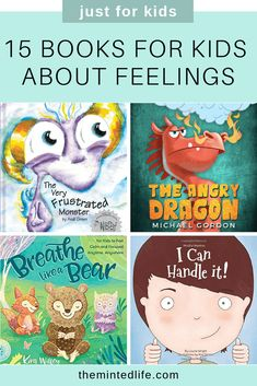 15 Books for Kids About Feelings - Little kids have big feelings! Check out these books for kids about feelings to encourage your child to read and learn to manage their big emotions. #booksforkids #raisingreaders #earlyreaders #earlyliteracy