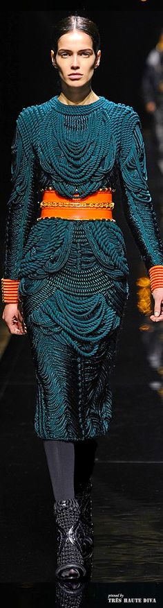 Sensational colour combo :) Balmain F/W 2014 - Paris Fashion Week