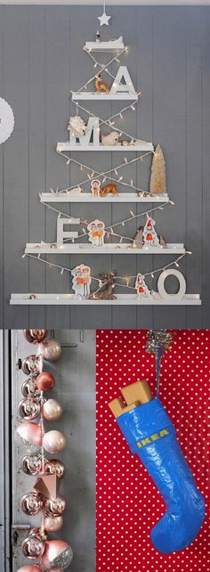 10 IKEA Christmas decoration ideas for the unexpected sparkle Running out of Christmas decoration ideas? With a little ingenuity, it's possible to turn IKEA items into festive Christmas decor, IKEA style. Diy Wall Decor, Decor Crafts, Easy Crafts, Ikea Christmas Decorations, Holiday Decor, Christmas Hacks, Christmas Crafts, Advent, Ikea Hackers