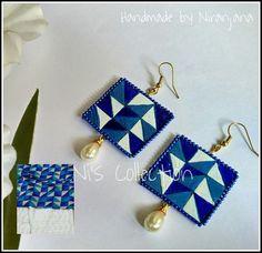 Thread Jewellery, Textile Jewelry, Fabric Jewelry, Funky Jewelry, Jewelry Art, Handmade Jewelry, Jewelry Design, Fabric Earrings, Diy Earrings