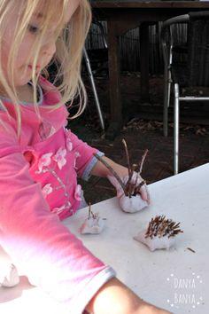 Bee making a clay echidna Animal Crafts For Kids, Echidna, Australian Animals, Toddler Preschool, Craft Stick Crafts, Kids House, Teaching Resources, Art Ideas, Bee