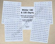 Winter 100 and 120 Charts product from VersedinFirst on TeachersNotebook.com