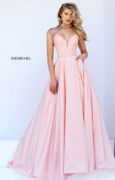 Prom dresses, celebrity dresses, sexy evening gowns: open back a-line gown Grad Dresses Long, Sherri Hill Prom Dresses, Pageant Dresses, Homecoming Dresses, Bridal Dresses, Bridesmaid Dresses, Formal Dresses, Dresses Dresses, Dress Prom