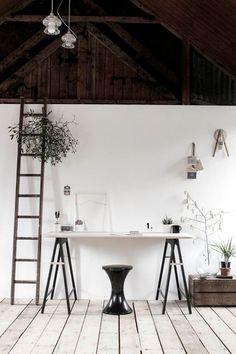White and all minimalistic studio space.
