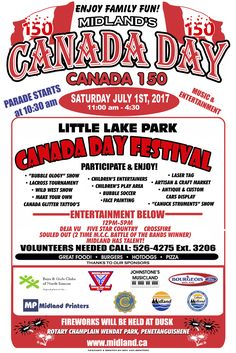 TOMORROW! #canada150🇨🇦  The Canada Day Parade is happening #DowntownMidlandON at 10:30am.