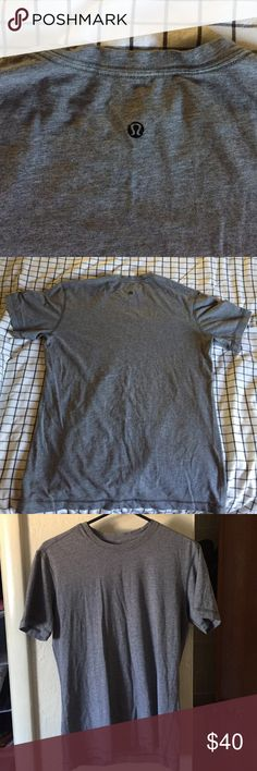 Lululemon Men's Workout Shirt Small Snacks Lululemon Men's shirt great quality. Work a couple of times and just don't use it as much as my others. Size small and had a slim fit on body. lululemon athletica Shirts Tees - Short Sleeve