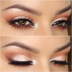 "showmemakeup: "" PEACHY GLOWING EYES Valentine's Day is on the approach, and I'll be adding a few new makeup tutorials to my 'Valentine's Day MakeUp' playlist on my YouTube channel. I'll include all the products used on the next post, with the video..."