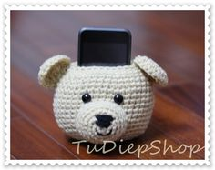 Items similar to Cell phone stand holder plush - Teddy Bear - PDF pattern on Etsy Desk Phone Holder, Iphone Holder, Iphone Stand, Easy Crochet Projects, Diy Crochet, Crochet Ideas, Crochet Gifts, Iphone S6 Plus, Minnie Toys