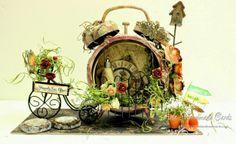 Aola Handmade Cards ...: Tim Holtz Altered Clock