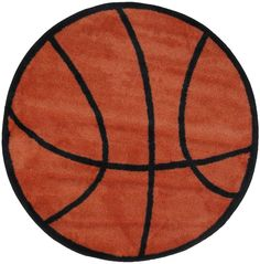 "Basketball Rug 39"" RD By LA Rug Sports FTS-004 100% Nylon With Latex Backing NEW #LARug #Sports"