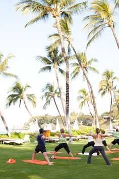 Wake up with #yoga at #Waimea's Mauna Kea #Beach #Hotel. #spa #fitness #exercise #healthy #island #Hawaii