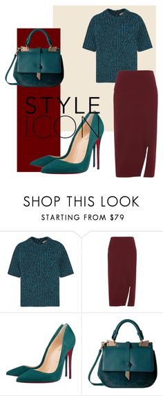 """Style Icon"" by wkhliovass ❤ liked on Polyvore featuring Bottega Veneta, Whistles, Christian Louboutin and Foley + Corinna"