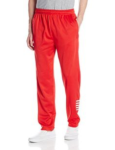 Rocawear Mens Striped Leg Track Pant, Red, Large