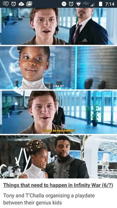- Tony and T'Challa will probably regret it quite quickly but it'll be too late and they're stuck with the glorious madness they've created. The post Tony and T'Challa will probably regret it quite quickly but it'll be too appeared first on Gag Dad. Funny Black Memes, Funny Marvel Memes, Dc Memes, Marvel Jokes, Avengers Memes, Funny Memes, Hilarious, Marvel Universe, Marvel Dc Comics