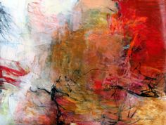distant sunset ~ mixed media ~ by charlotte foust