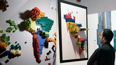 3D infographic created with Lego bricks - Randommization