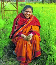 Vandana Shiva - scientist, philosopher, environmental activist, and eco-feminist Vandana Shiva, Dehradun, Revolutionaries, Genetics, Mother Earth, Mother Nature, Namaste, Sustainability, Beautiful People