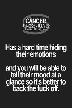 Daily Horoscope Cancer Zodiac Mind Your #1 source for Zodiac Facts Daily Horoscope Cancer 2017 Description My Cancer Rising Sunmay tell you to back the F off