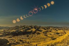 Eclipse From The Painted Hills In Oregon - © Hayden Scott Pretty Pictures, Cool Photos, Solar Eclipse 2017, Painted Hills, Advantages Of Solar Energy, Science And Nature, Night Skies, Beautiful World, Aurora